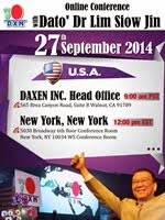 DXN USA's Online Conference with Dato' Dr. Lim Siow Jin on 27 Sept 2014