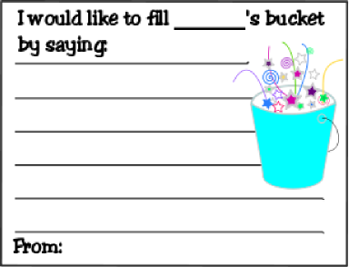 Printables For Have You Filled Your Bucket Today | just b ...