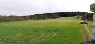 Kastell Pfünz - Blick auf die zum großen Teil landwirtschaftlich genutzte Innenfläche