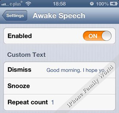 Awake Speech v1.0.1-1 - iPhone family world