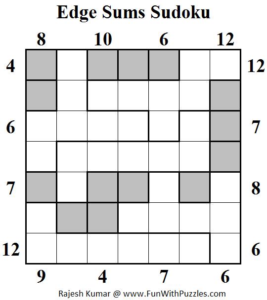 Edge Sums Sudoku  (Daily Sudoku League #147)