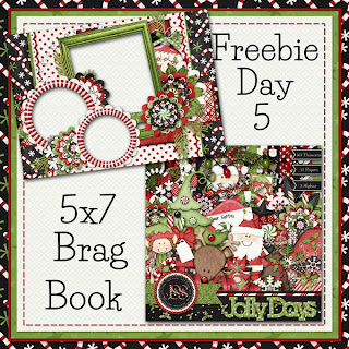 Jolly Days 5x7 Brag Book Freebie Day 5