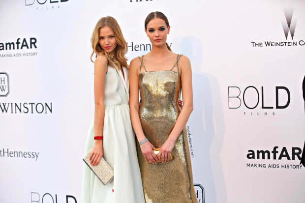 Sasha Luss and Mina Cvetkovic, Cannes, April 2015