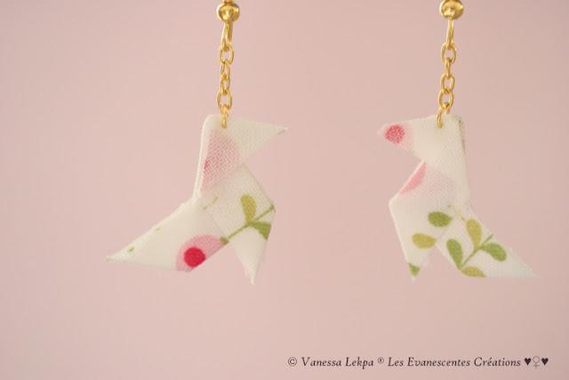 origami cocotte tissu oiseau