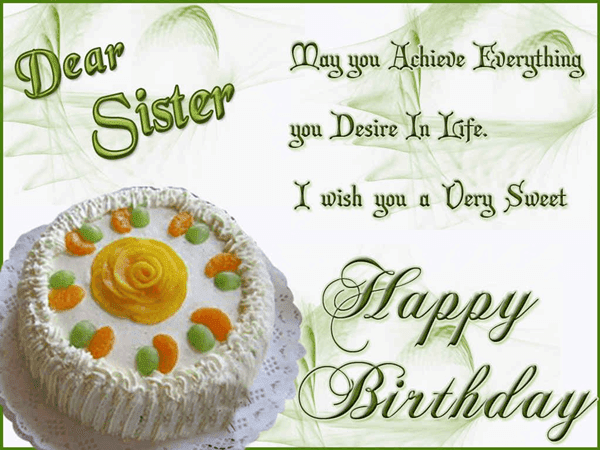 Happy Birthday Wishes Quotes Images For Sister – Sister Birthday Greetings Quotes