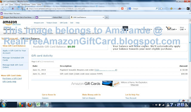 free gift card codes for amazon