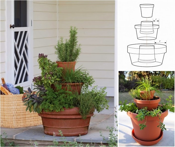 DIY Terra-Cotta Herb Tower