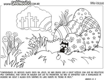 Desenhos para Colorir Pascoa Cristã