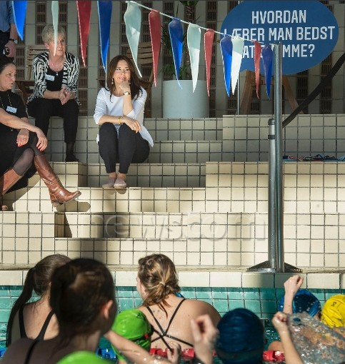 Crown Princess Mary As patron of the Danish Swimming Federation
