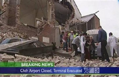 ANOTHER EARTHQUAKE HITS NEW ZEALAND