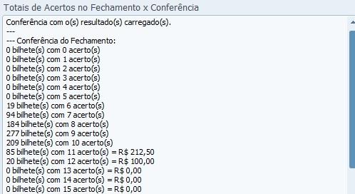 Conferência Lotofácil 0889