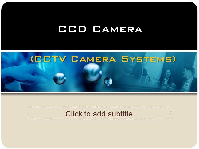presentation on cctv