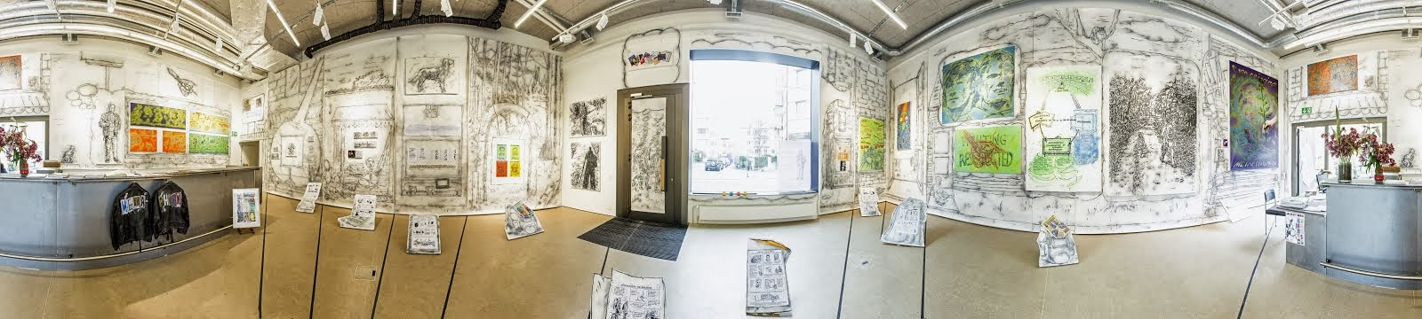 Panorama view of exhibition in Jedlitschka Gallery, Zurich.