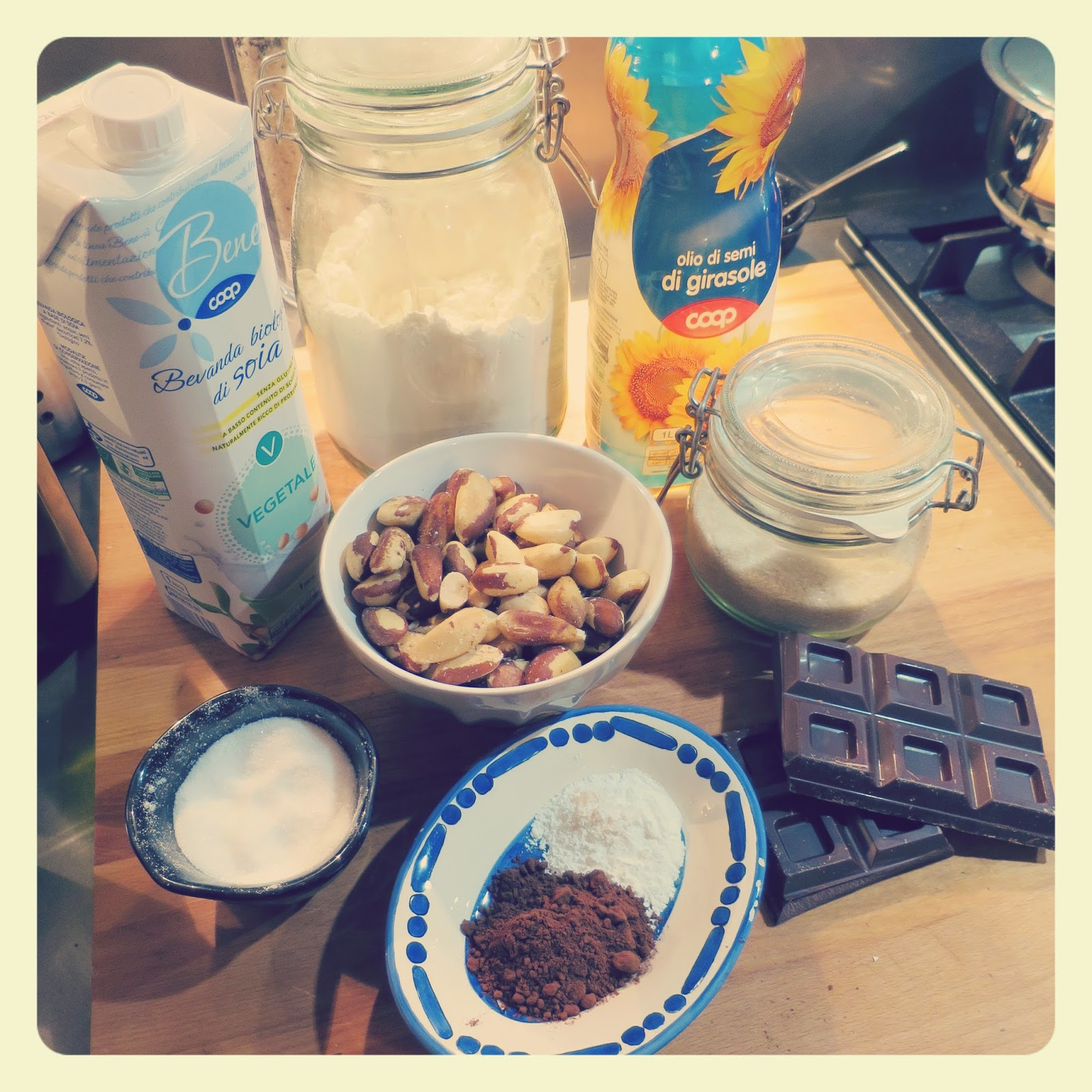 ingredienti brownies vegan