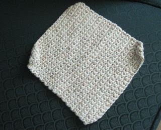 cotton crocheted washcloth