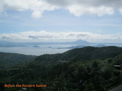 Taal Lake as viewed from Eli's Barbecue rooftop.