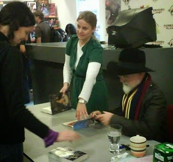 Me meeting Terry Pratchett in 2007