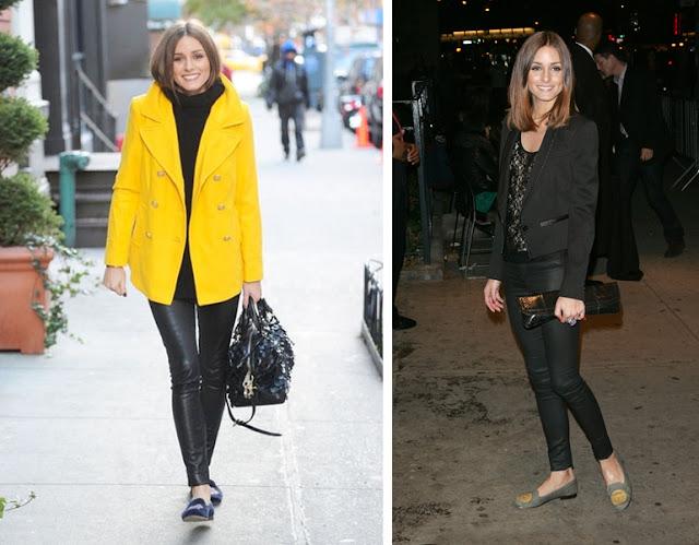 Ideas para lucir pantalones de cuero como Olivia