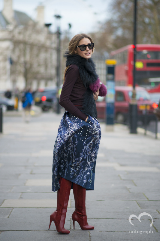 American Socialite Olivia Palermo at Peter Pilotto London Fashion Week 2014 Fall Winter Show LFW