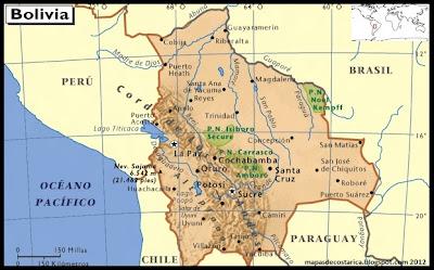 Mapa de la República de Bolivia