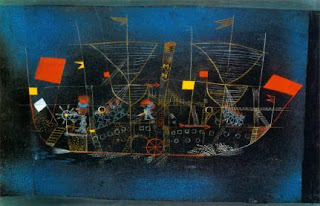 Paul Klee painting - Abenteur Schiff