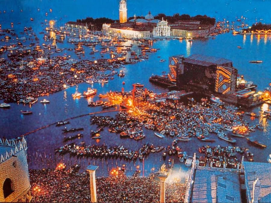Pink Floyd Concert on the Festa del Redentore, July 15th, 1989, Venice,