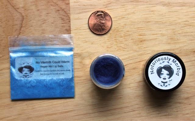 Notoriously Morbid sizes sample baggie mini jar full size
