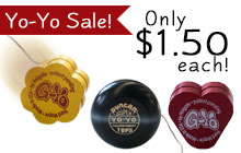 Hogate Toys sale: All yo-yos at $1.50 each!