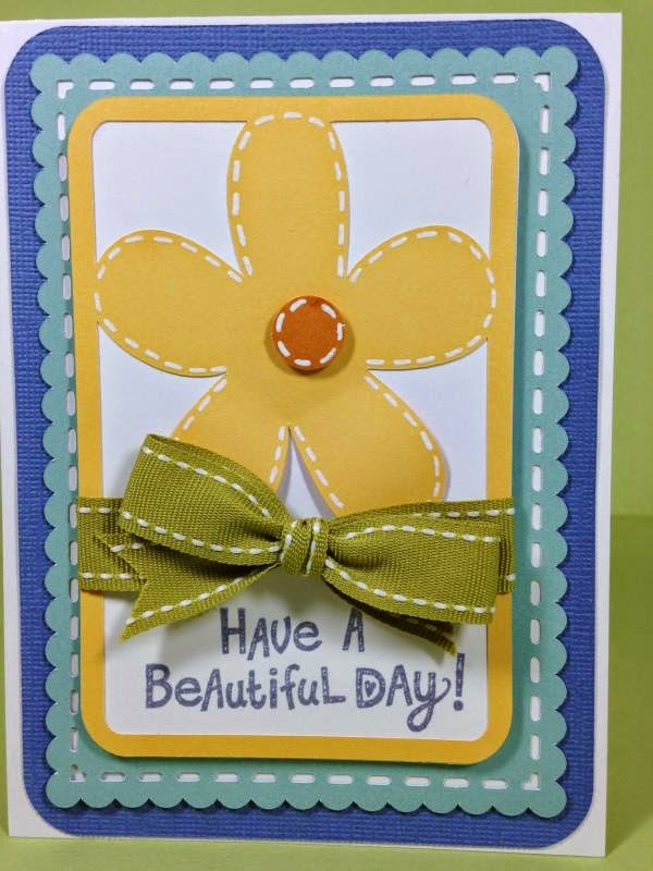 Close To My Heart Artfully Sent Cricut Cartridge Beautiful Day card closeup