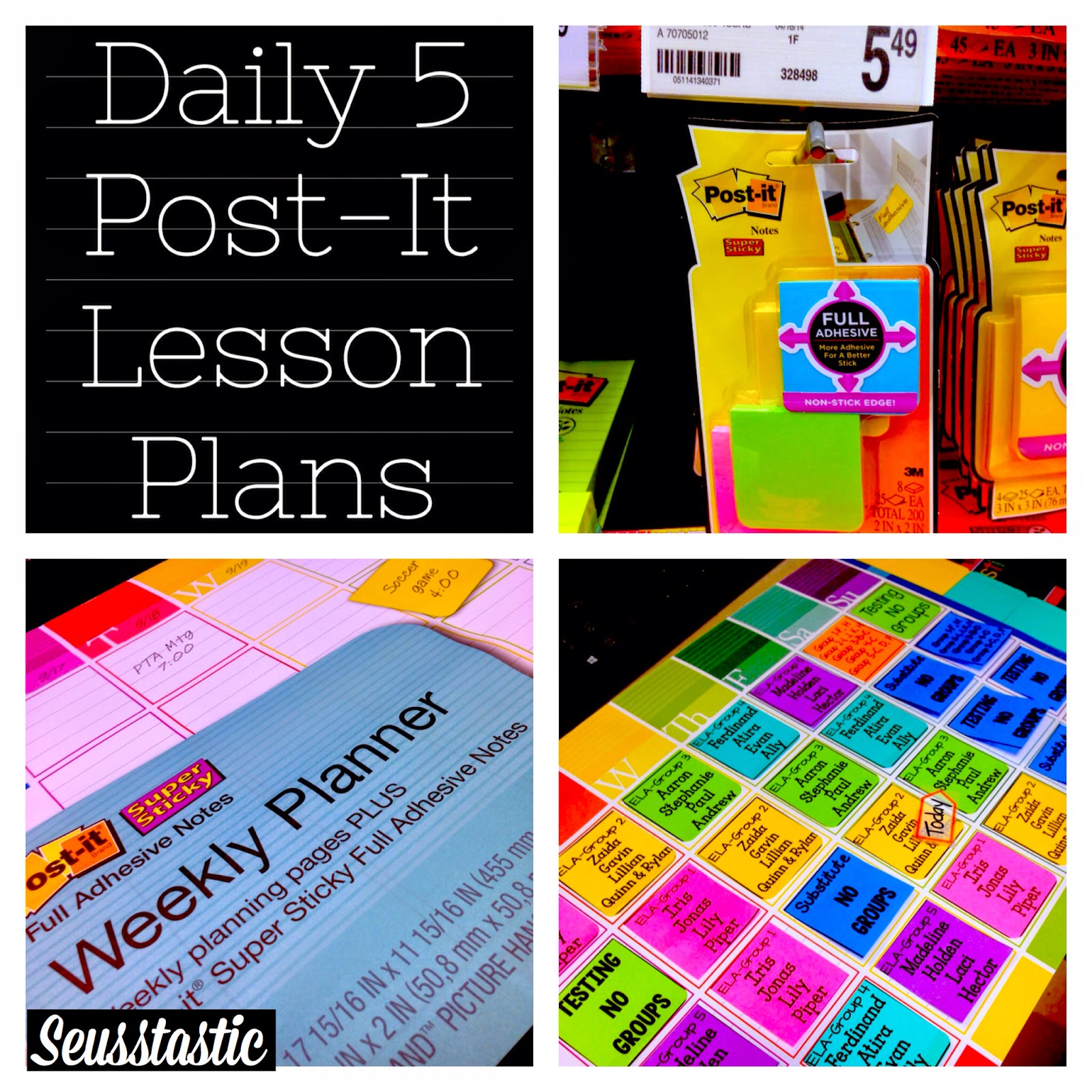 Daily 5 Post It Lesson Plans