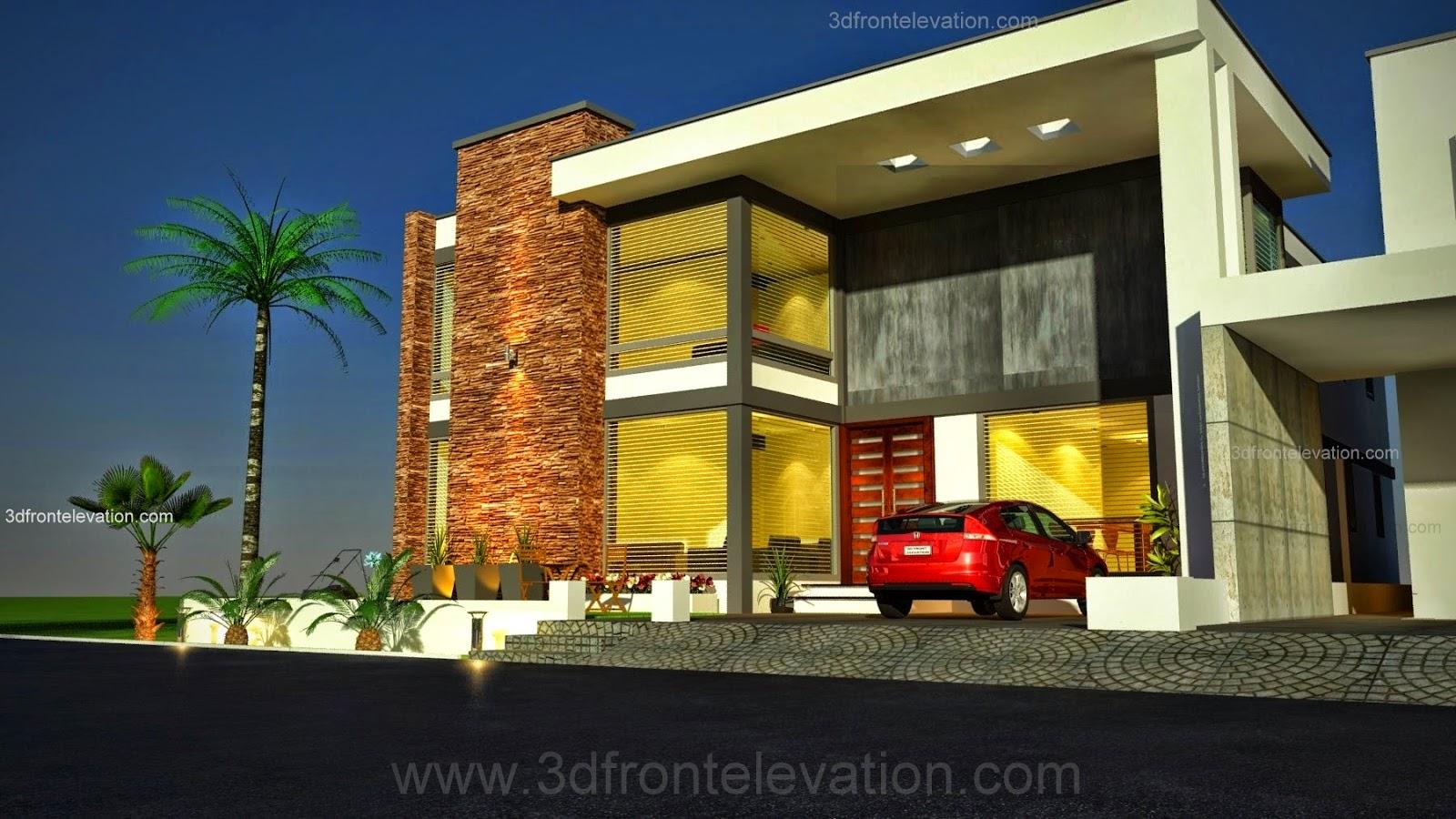 Front Elevation Designs In Karachi : D front elevation kanal modern simple elegant
