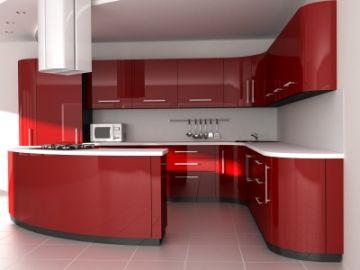 Antique Red Kitchen Cabinets