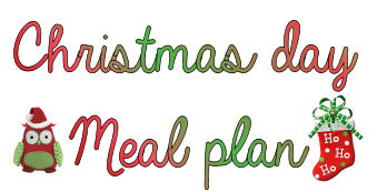 Meal plan for Christmas day