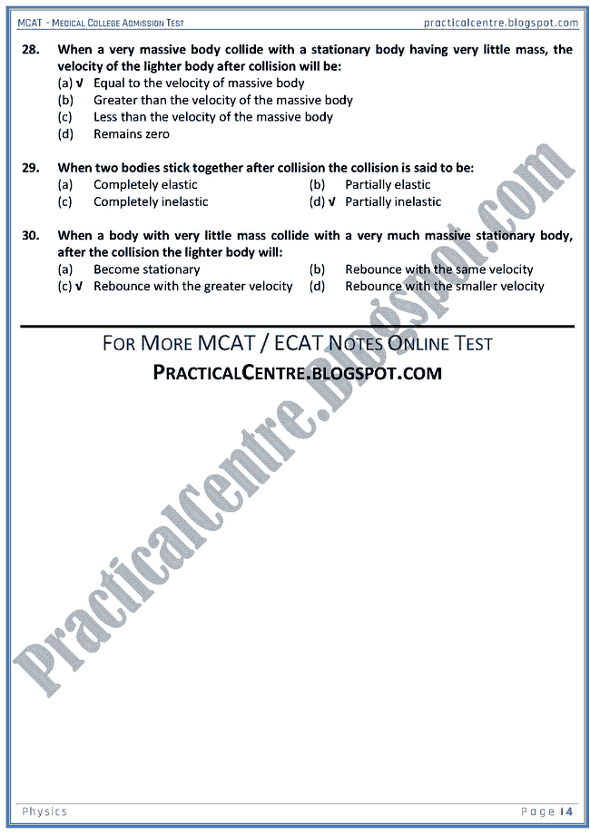 mcat-physics-momentum-mcqs-for-medical-college-admission-test
