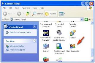 Mengubah kotak login klasik di windows xp (disable windows login screen classic)