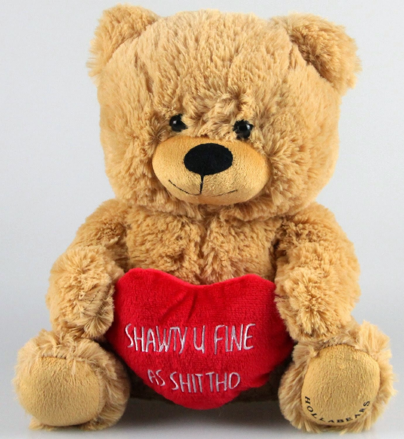 "Hollabears 10"" Shawty U Fine As Shit Tho Teddy Bear with High Standards"