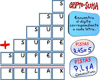 Cripto, Criptoaritmética, Criptosumas, Criptogramas, Alfamética, Criptoaritmética con solución, Problemas matemáticos, Problemas de lógica, Problemas con solución