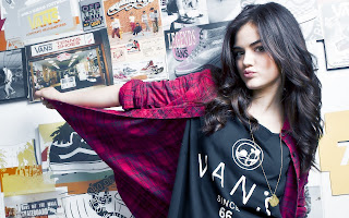 Cute Brunette Lucy Hale HD Wallpaper