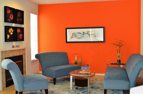 kombinasi warna cat rumah idaman untuk ruang tamu gambar