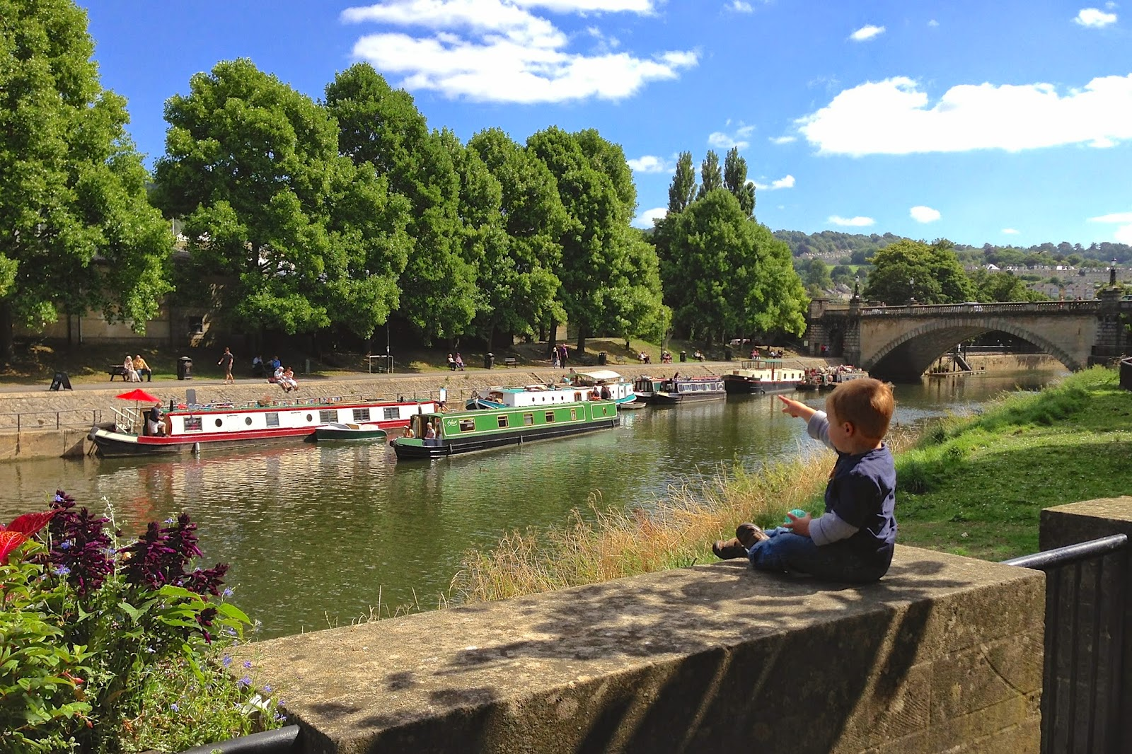 River and canal boats in Bath