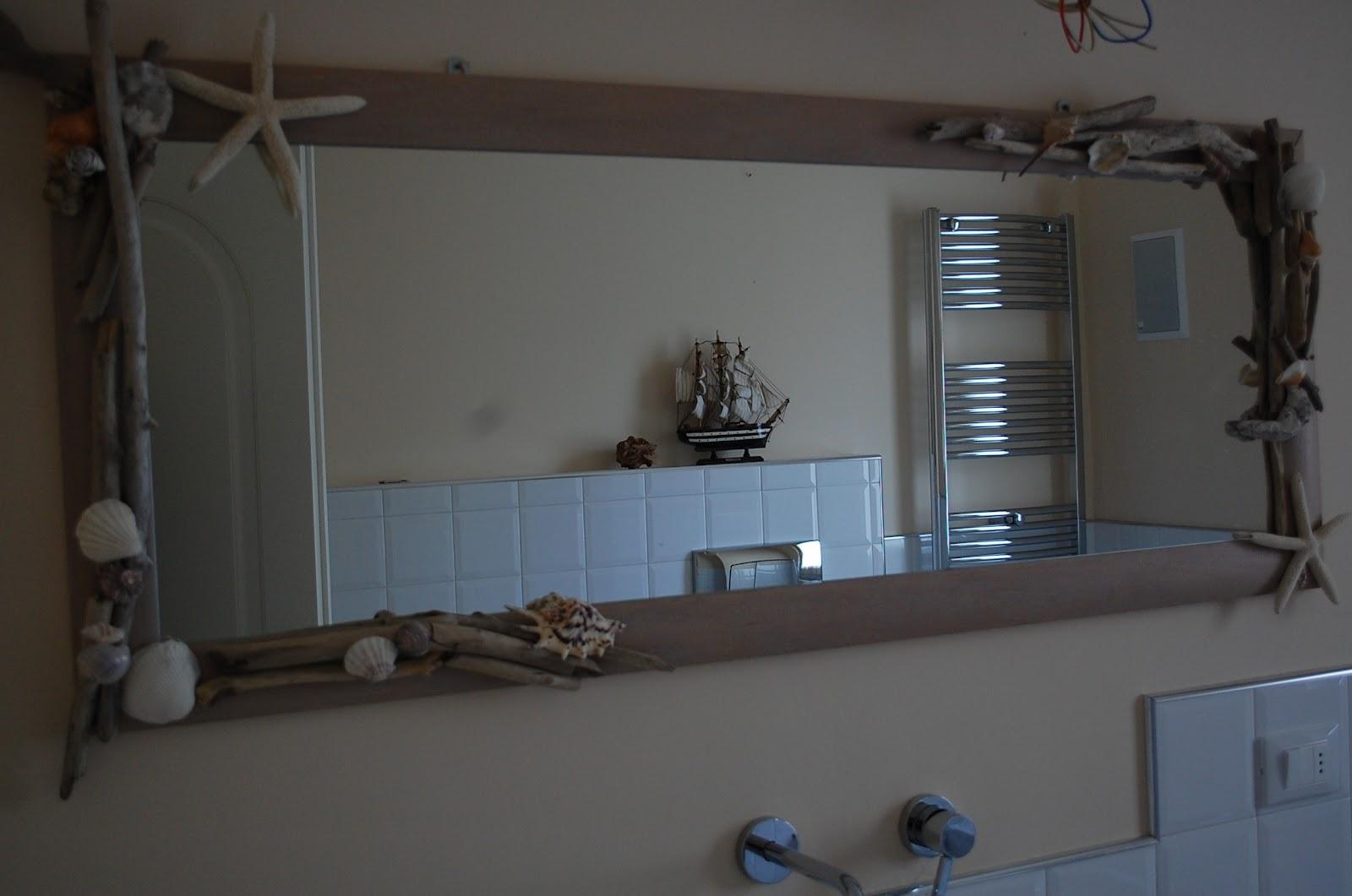 Stufa a pellet moderna sospesa - Specchio con conchiglie ...