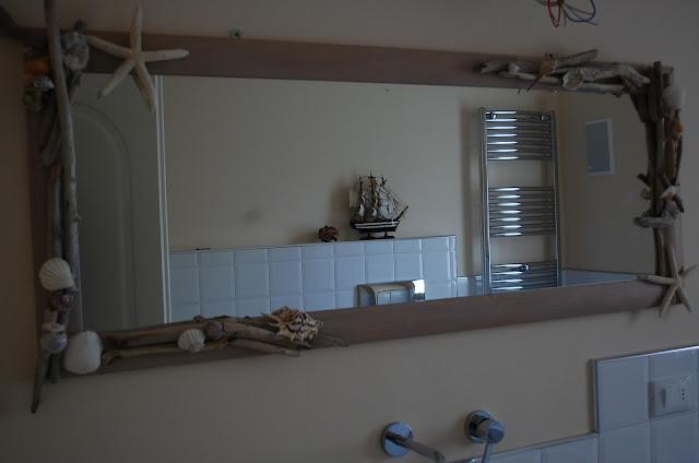 Cuore coccole by francy specchio shabby chic marino for Arredo bagno marinaro