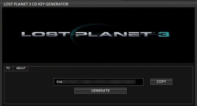 Lost Planet 3 CD KEY Generator