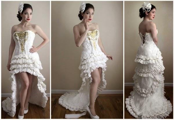 Great Design - Toilet Paper Wedding Dress