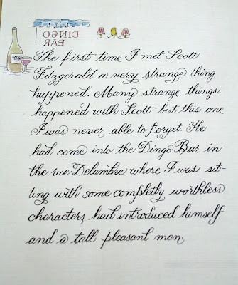 DeAnn Singh Calligraphy: March 12, 2012 - Copperplate Last Class at ...
