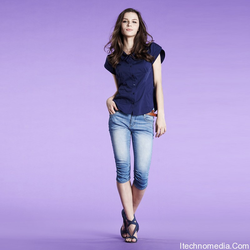 Capri jeans fashion for women 2012