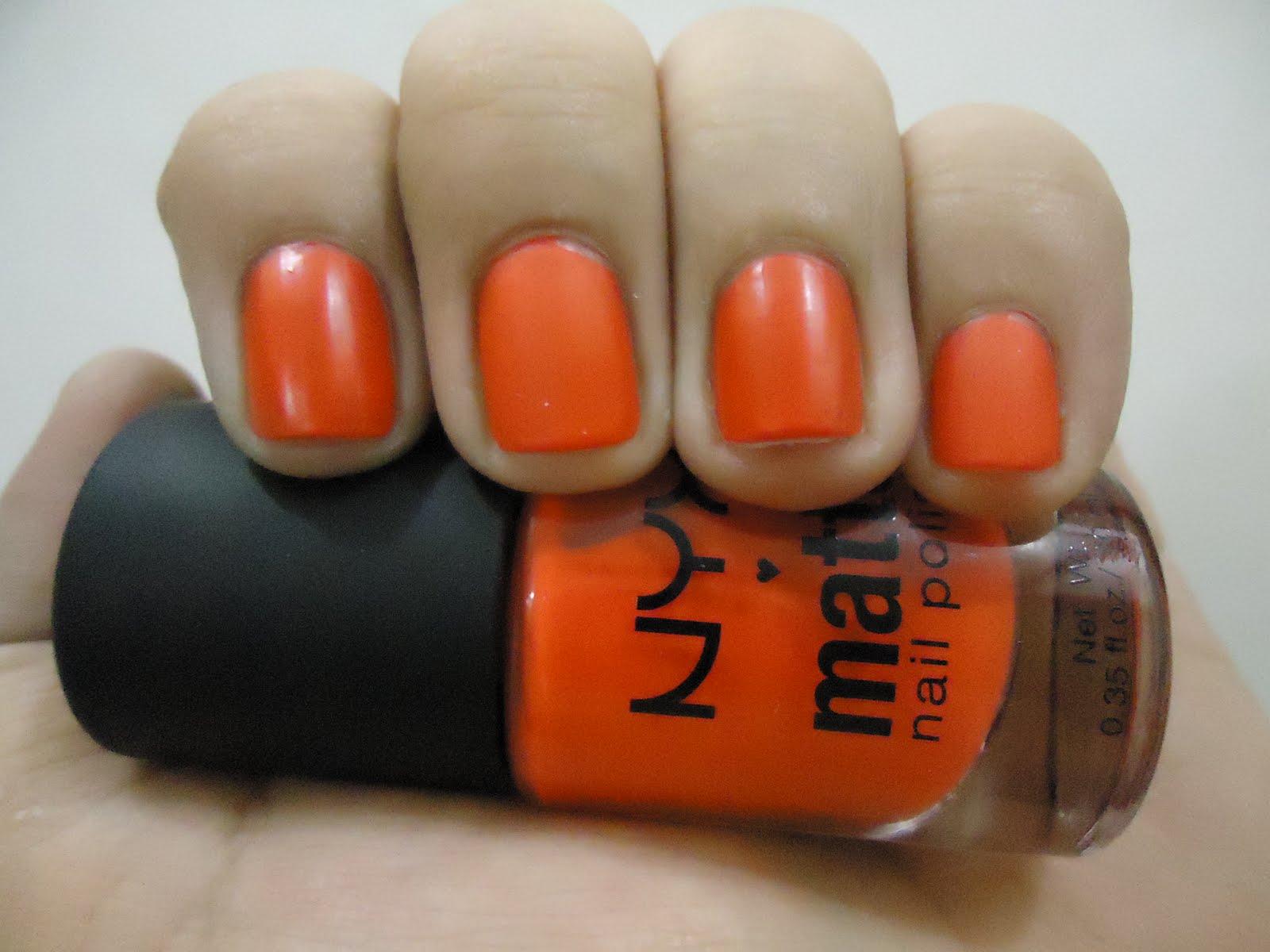Nails and More. . . .: NYX matte nail polish