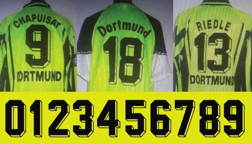 Football teams shirt and kits fan font borussia dortmund 90s font borussia dortmund 90s voltagebd Images