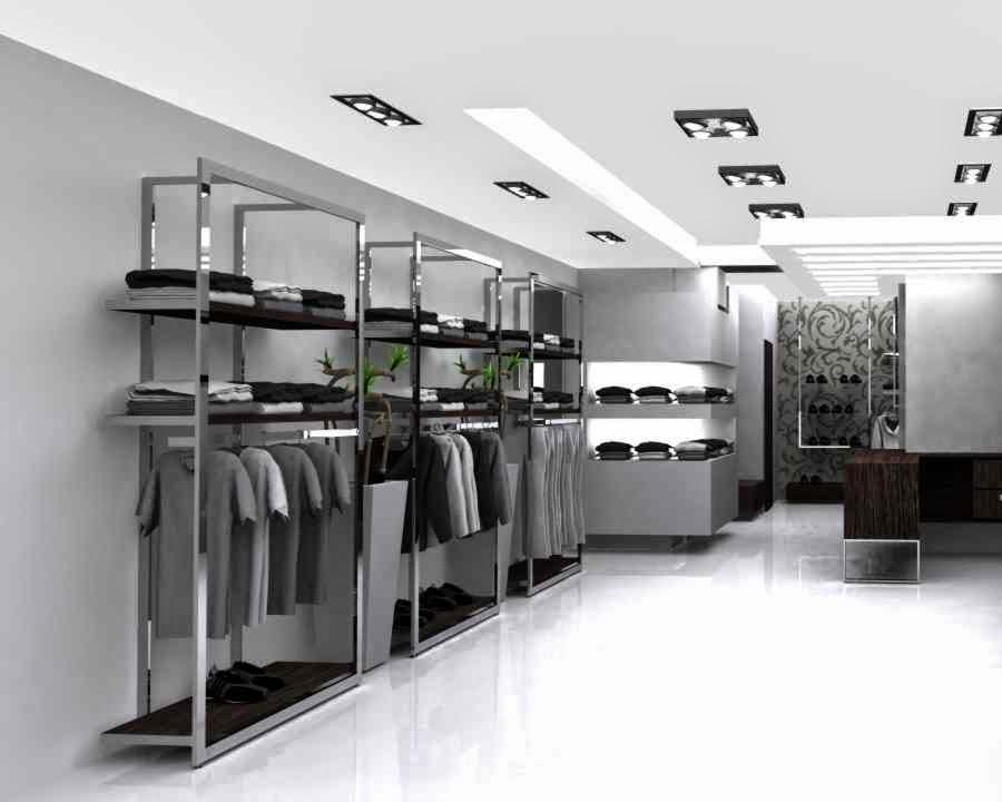 arredo negozio abbigliamento economico: arredamento per negozi in ... - Arredamento Negozio Abbigliamento Scaffalatura In Acciaio