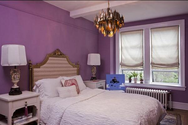 Dormitorios con acentos en morado p rpura y lila for Cuartos para ninas morados